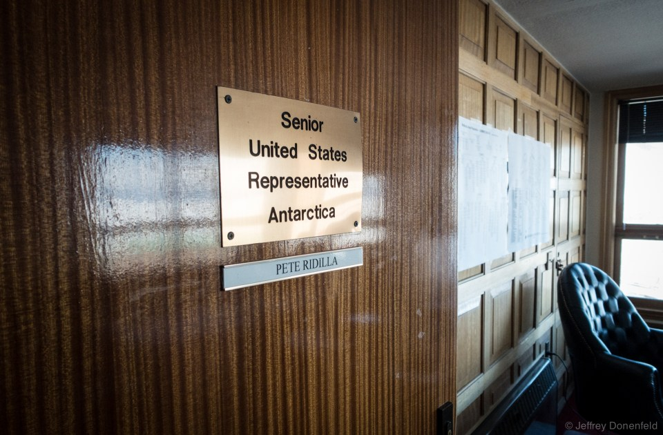 The Chalet houses the main NSF offices in Antarctica, including Senior United States Representative to Antarctica Pete Ridilla's office.