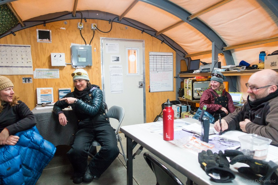The comms, weather, and administrative tent at WAIS.