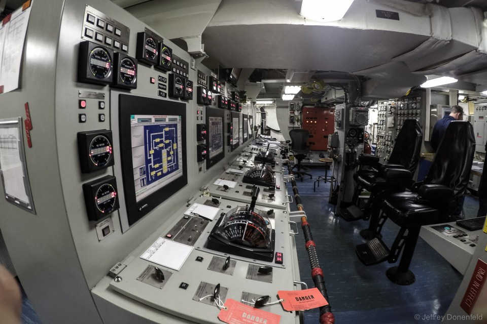 The modern engine control center, with digital displays and computer control.
