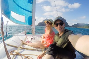 Talitha and I charterd a small hobie cat sailboat - fun sailing for an hour or two.