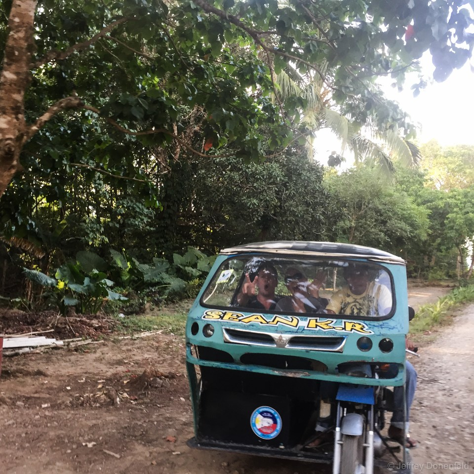 Trikes are huge in Palawan - in El Nido they seemed to be hand-built and somewhat rickety - but they got the job done.
