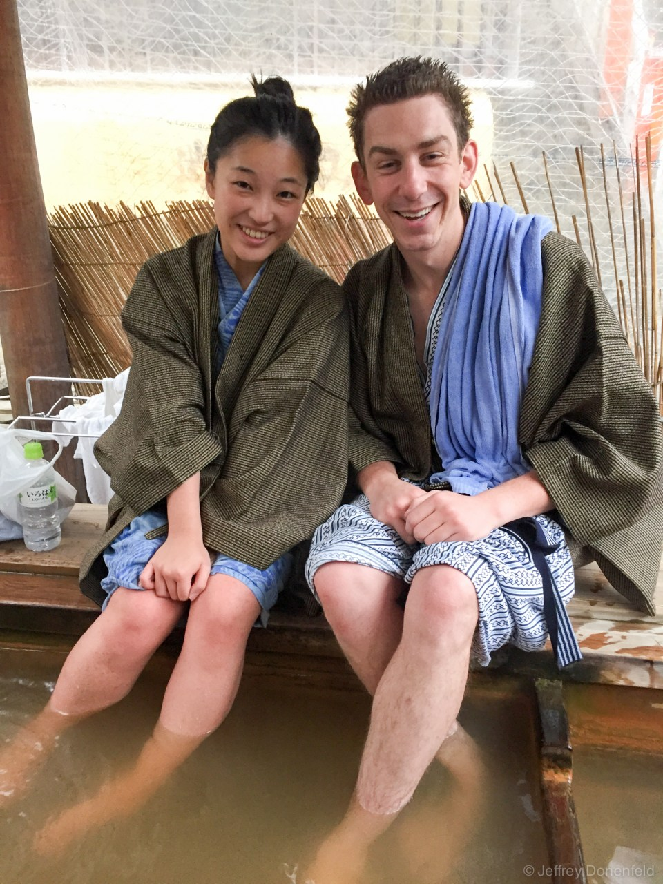 Saori and I enjoyed the public onsens separately of course, but got back together for the occasional foot onsen in the center of town.