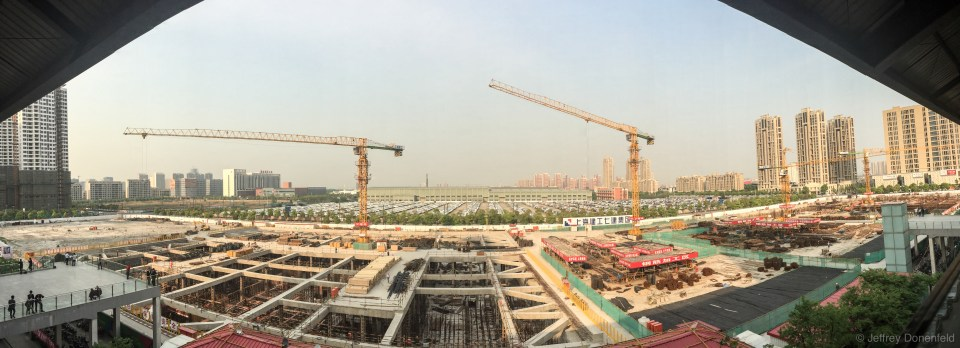 A typical Chinese view - massive scale construction happening everywhere.