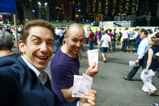 Betting, and WINNING, at the Hong Kong Happy Valley Horse Races.
