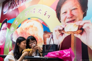 Grabbing some snacks in Macau.