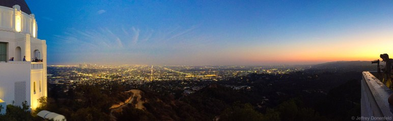 Sunset at the Griffith Observatory.