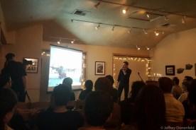 "Jeffrey Donenfeld speaking at Ignite Chanukah 2016 - ""The Frozen Chosen: Jews in Antarctica""."
