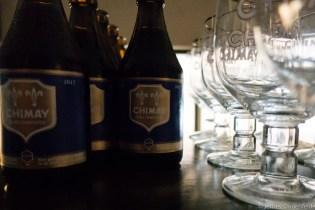 Sampling tasty beers in Brussels