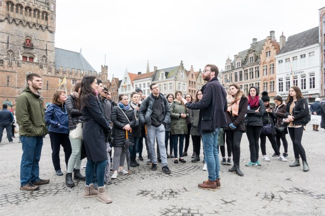 Quick walking tour of Brussels - a good way to intro to a new city, and make a few friends.