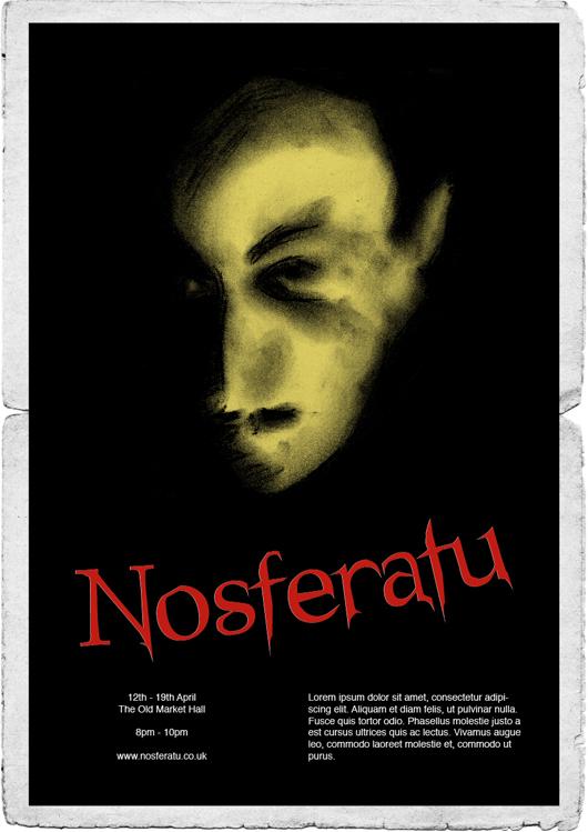 Nosferatu Poster 1940 Style