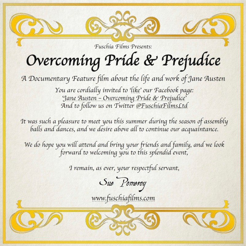Overcoming Pride & Prejudice Invitation