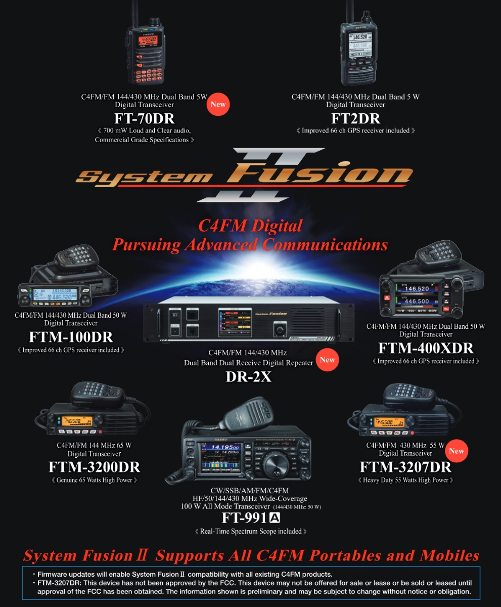 hight resolution of a reddit posting appeared proclaiming system fusion ii is coming with an accompanying info graphic and faq posted on the yaesu system fusion yahoo group