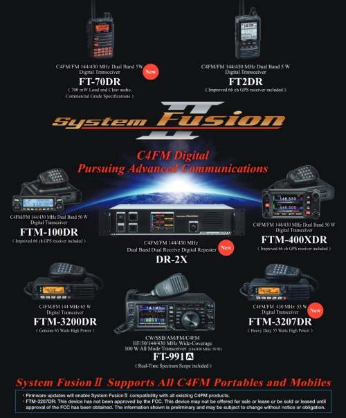 small resolution of a reddit posting appeared proclaiming system fusion ii is coming with an accompanying info graphic and faq posted on the yaesu system fusion yahoo group