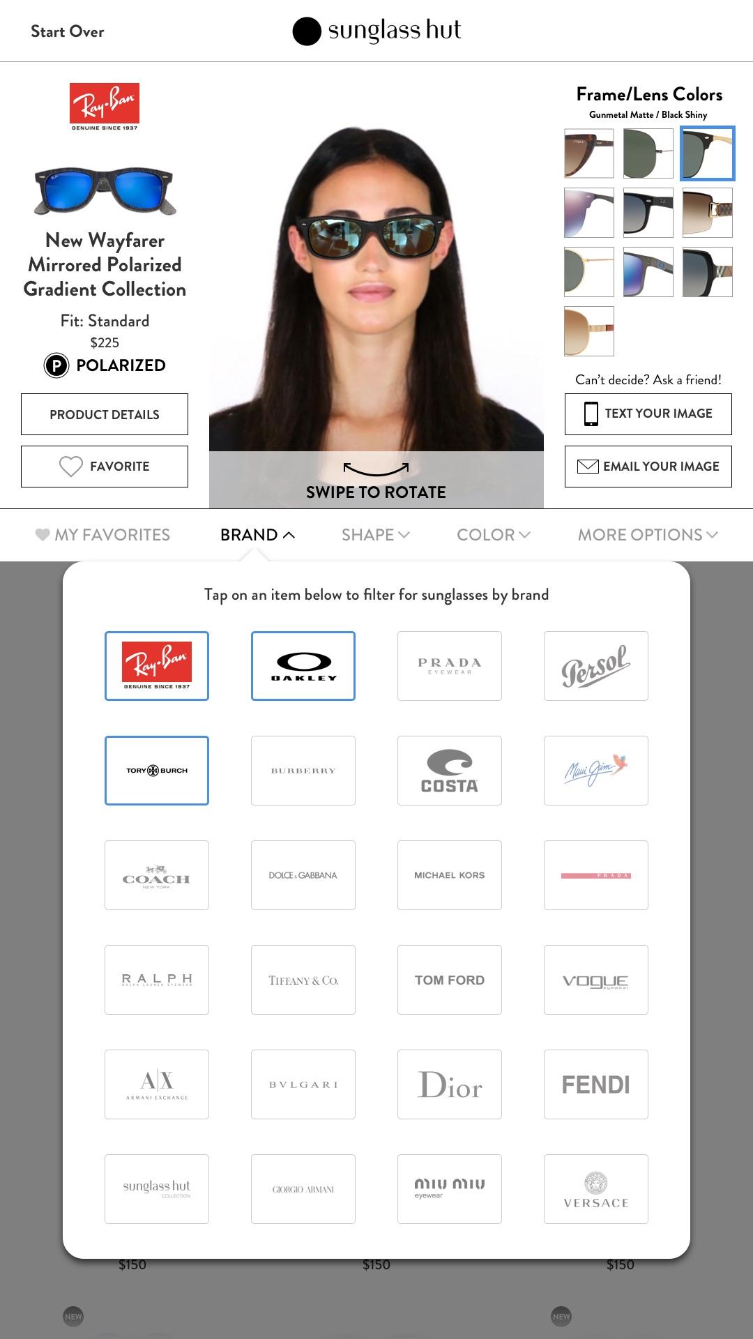 Kiosk – Filter by Brand