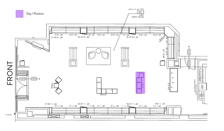 Sunglass Hut Floorplan – Kiosk – Day 1
