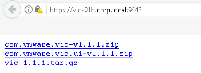 vic-binaries