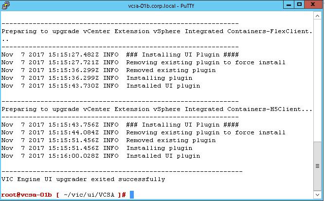 vic-upgrade-vcsa-success