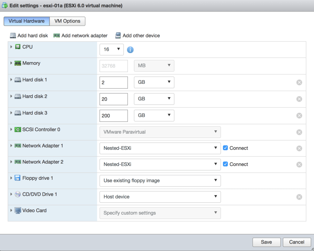 How I configured VLANs, VXLANs and OSPF in my nested VMware