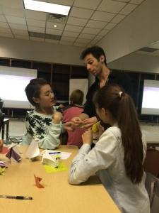 Teaching Origami at Texas Shakespeare Festival