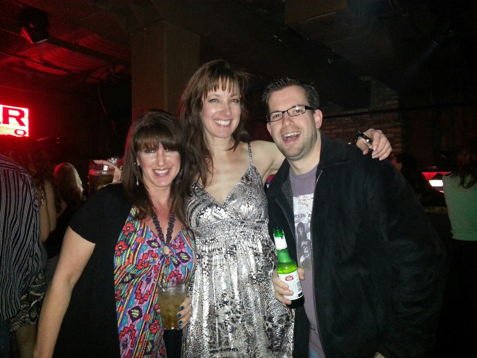 Another reunion with radio friends! (Cara Carriveau & Sandy Maxx)