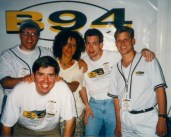 "Looking like a freak at the ""B94th Of July"" (l-r: Jonny Hartwell, Ryan Mill, Billie Myers, Freakboy, David Edgar)"