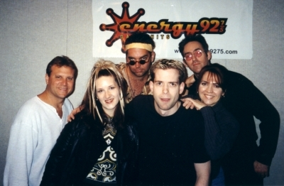 Knowing my musical taste, these random people dressed up as a fake 80's band to get on the show. It worked! Nice face, Jeffro.