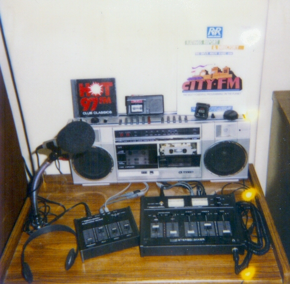 This is historic. This was the FIRST amateur DJ setup I had in my bedroom in 1988. This is where I made my first fake radio shows.