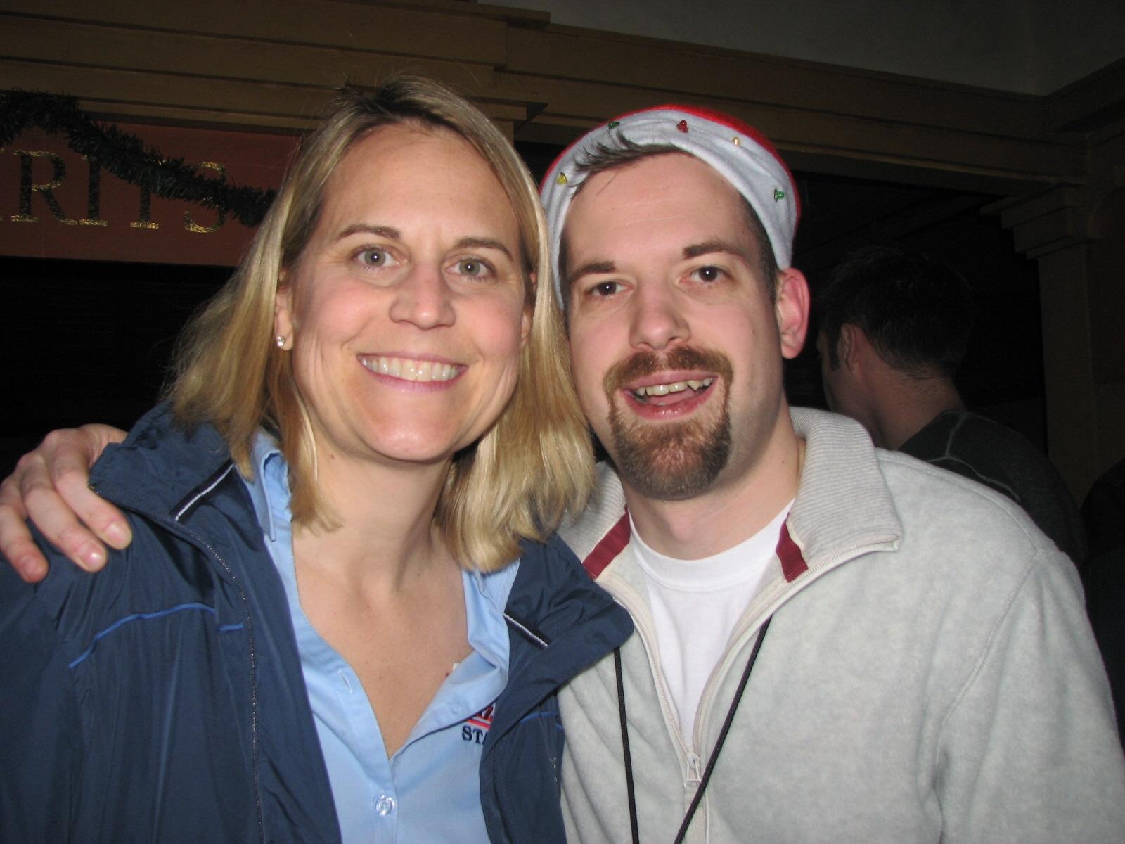 Meet Meg Stevens. She was my Program Director. I was her Claus.
