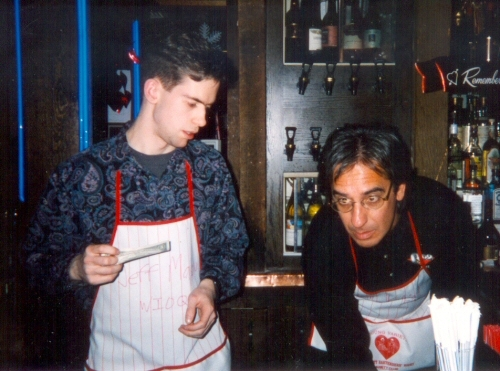 Q102 is where I started my long career as an alcoholic. Here's a celebrity bartender gig with Glenn Kalina.