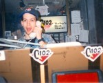I'm pretty sure this was the first pic ever taken of me in the Q102 studios. Nice hat.