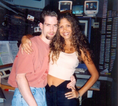 Wow, hot girls NEVER visited us in Reading! Me and Samantha Cole. Nice goatee.