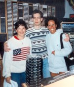"Here I am with Donna Storm, doing the ""12 Noon Workout."" This girl was on a tour. Nice sweater."