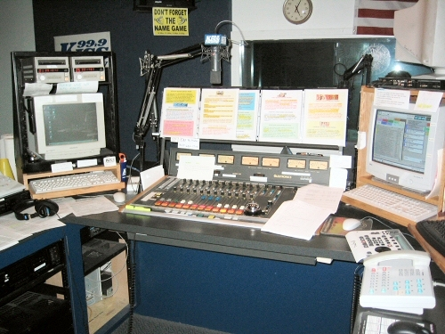 For you radio geeks, this was the air studio.