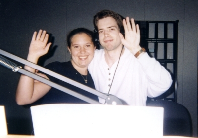 "Elmo and I said ""byebye"" to 92 Kiss-FM at 12 Midnight Friday, 8/6/99."