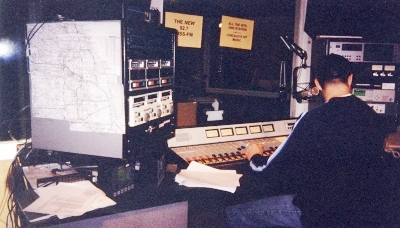 I took this picture on our 2nd day being on the air (12/15/98). That's Shark.