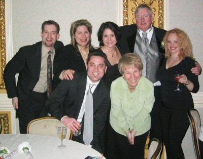 Me, Amy Davis, Christina Filliagi, JoAnn's Dad, Jill Urchak, Scott Straus, & Dona Mullen at JoAnn's wedding. A virtual WXXY reunion! So great to work with Dona again at K-Hits.