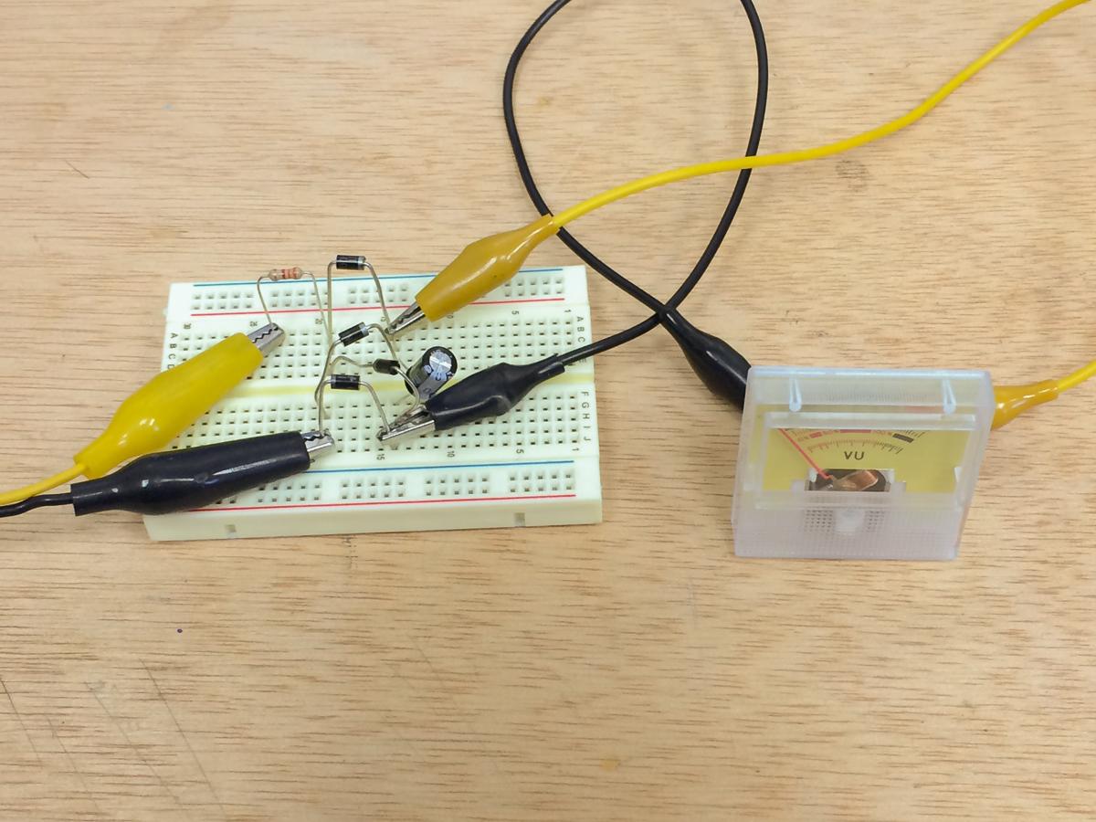 Groovy Simple Vu Meter Circuit Jeff Thompson Wiring Digital Resources Apanbouhousnl