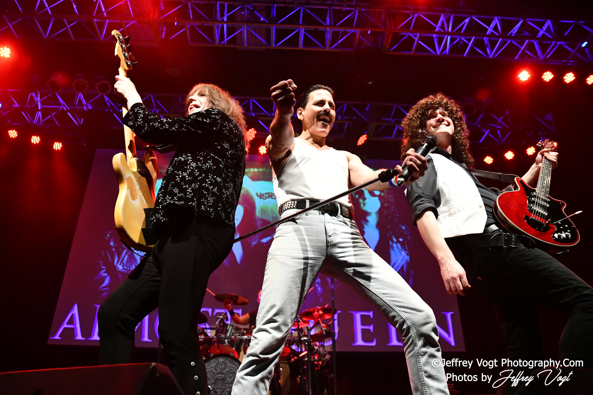 Concerts; Bands; Almost Queen; Big 100.3; Cameras; Nikon Camera; Nikon D850; Nikon DSLR; Tamron 24-75 F2.8; Tamron 70-200 F2.8; 2019; 12/28/2019; The Ultimate Queen Experience; Steve Leonard; Randy Gregg; Queen; Joseph Russo; John Cappadona; Lisa Berigan; Big 100.3 Throwback Bash; Genres; Classic Rock; Hard Rock; Rock; Rock and Roll; Jeffrey Vogt; Photos by Jeffrey Vogt; Photography by Jeffrey Vogt; Jeffrey Vogt Photos; Jeffrey Vogt Photography; www.jeffreyvogtphotography.com; Locations; Maryland; Silver Spring Maryland; Silver Spring; Music; Live Music; Musicians; Bass Guitarist; Drummer; Sherreder; Lead Guitarist; Photos; Band; Band Photo; Band Photographer; Band Photography; Band Photos; Concert; Concert Photo; Concert Photographer; Concert Photography; Concert Photos; DMV Music; DMV Music Photographer; DMV Music Photography; Live Music Photographer; Gig Photos; Gig Photography; Gig Photographer; Gig; DMV Music Photos; On Stage Photographer; On Stage; Live Music Photos; Live Music Photography; Pit Photos; Pit Photography; Pit Photographer; On Stage Photos; On Stage Photography; Tour; Tribute; Tributes; Tribute Band; Cover Songs; Cover Bands; Venues; The Fillmore Silver Spring; The Fillmore;