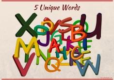 5 Unique Words