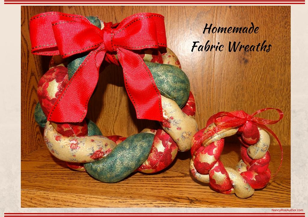 Homemade Fabric Wreaths