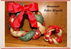 Homemade Fabric Wreaths