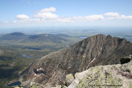 Photo of the view from Katahdin, northern terminus of the Appalachian Trail.