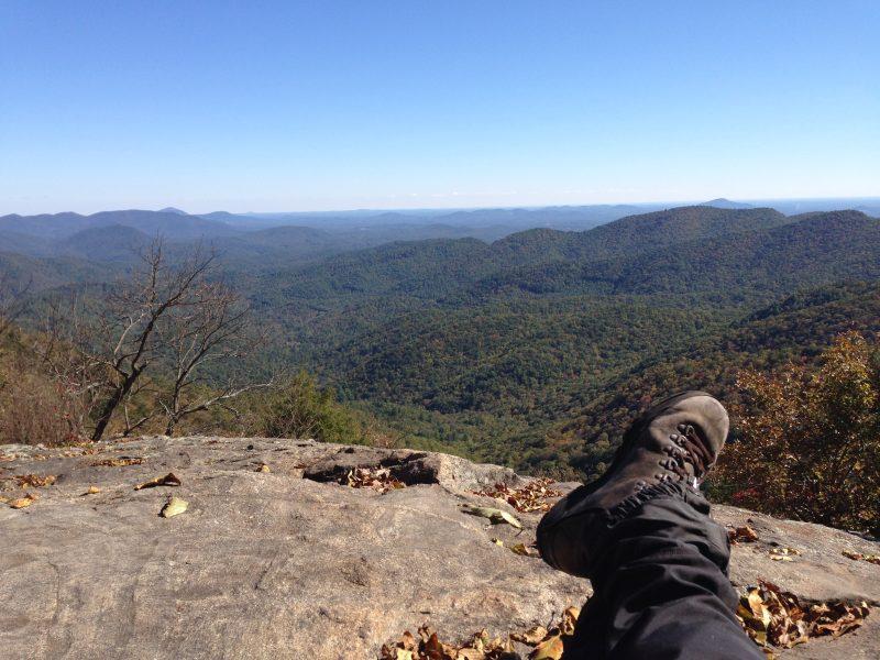 Photo of Preacher Rock, Georgia. ©2017 www.jeffryanauthor.com