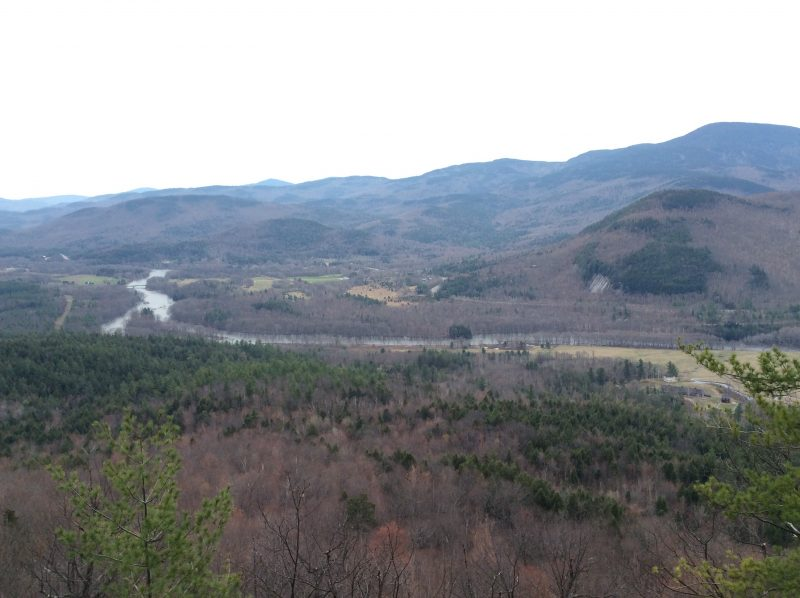 The view from Mt. Joe in Shelburne, New Hampshire
