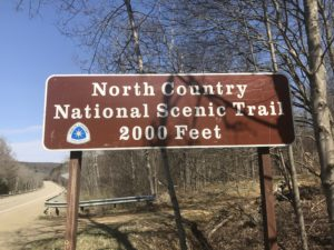 Photo of North Country Trail Sign. ©2018 www.JeffRyanAuthor.com