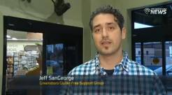 Jeff SanGeorge taks bout the Gluten Free Food Drive on TimeWarner Cable NEws
