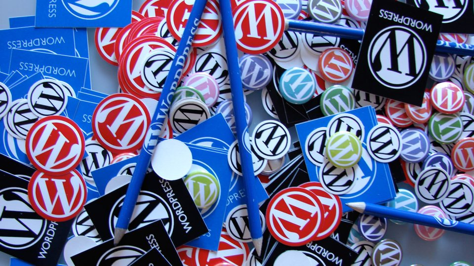 WordPRess Stickers and buttons and other WordPRess swag