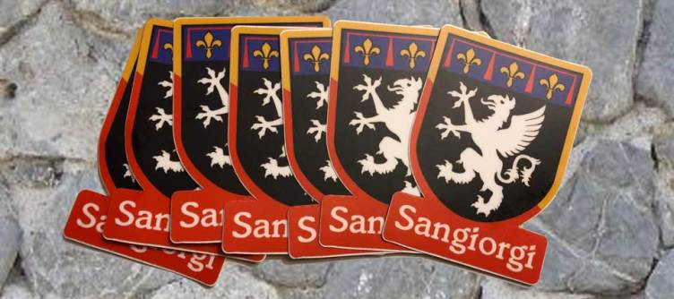 Sangiorgi Family crest - stickers