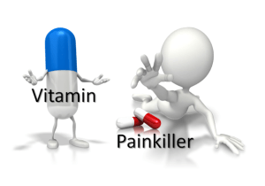 vitamin vs pain killer