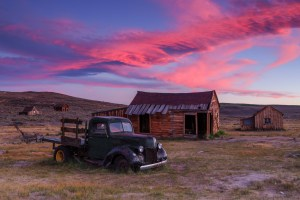 night photography in Bodie State Historic Park